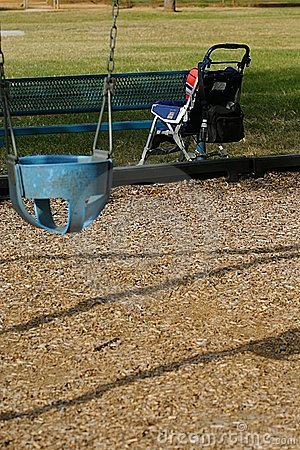 Baby Stroller and Swing