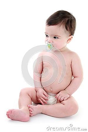 Baby sucking dummy