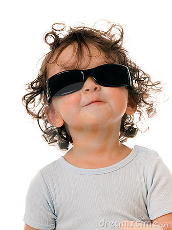 Baby in sunglasses.