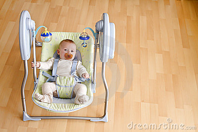 Baby in swing