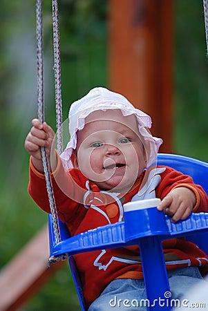 Baby swinging