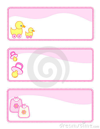 Free Baby Tags / Banners Royalty Free Stock Photography - 12531467