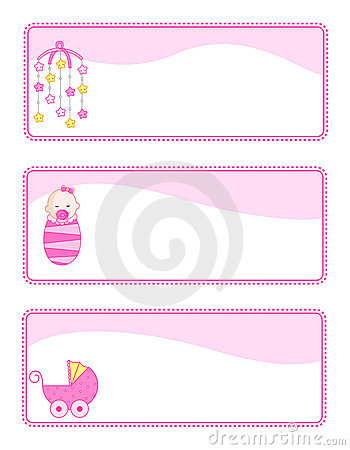 Free Baby Tags / Banners Royalty Free Stock Image - 12531486