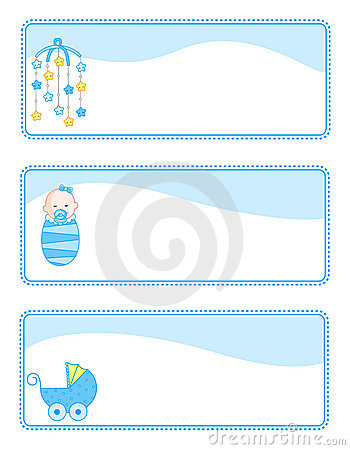 Free Baby Tags / Banners Stock Image - 12531511