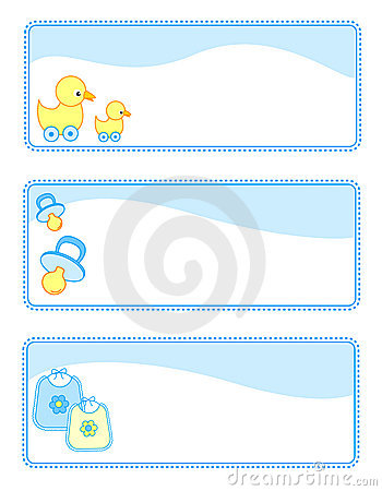 Baby tags / banners set