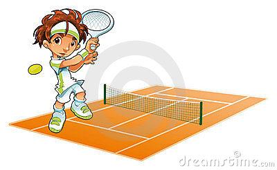 Baby Tennis Player with background