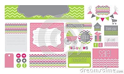 Baby theme website elements