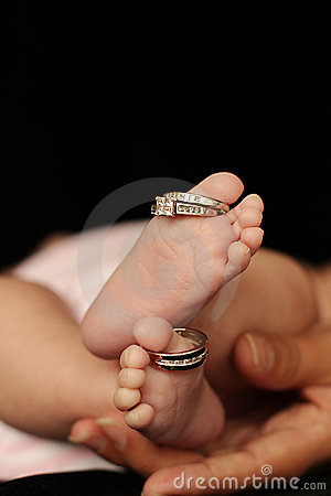 Baby Toes With Wedding Rings