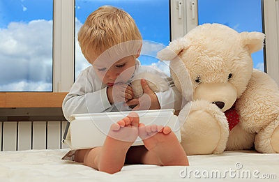 Baby with touch pad