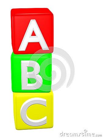 Baby Toy Building Blocks Alphabet ABC