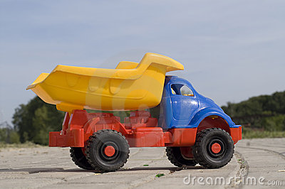 Baby toy dump truck