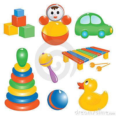 Free Baby Toy Icon Set Stock Images - 4901994