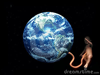 Baby Umbilical Cord Attached To Mother Earth 5