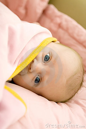 Baby under the blanket