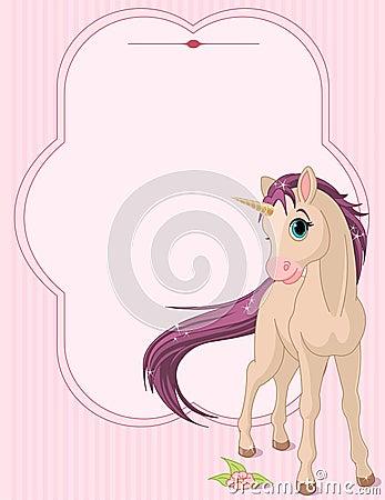 Baby unicorn place card