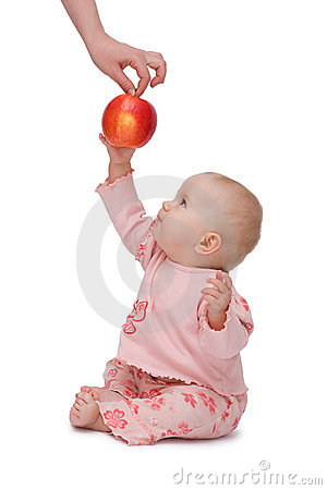 Baby wants an apple!