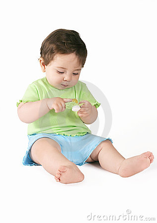Free Baby With Pacifier Stock Photography - 356292