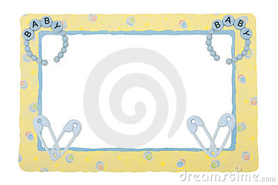 Baby Yellow Patterned Border Stock Image - Image: 9522861