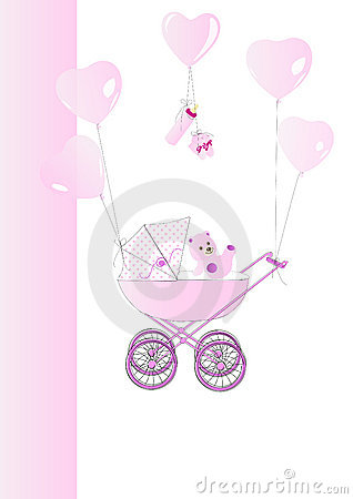 Babycard in pink