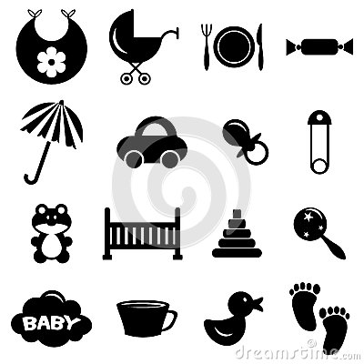 Babyish icons set