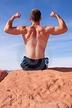 Back of a body builder