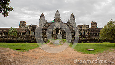 Back entrance of Angkor Wat,