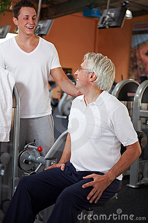 Back exercises in gym