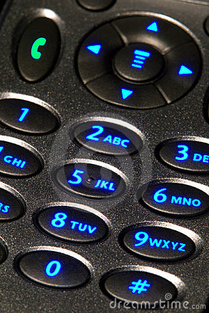 Free Back Lit Cell Phone Keypad With Numbers Stock Photo - 7133650