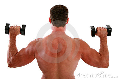 Back of a Man Weight Ligting