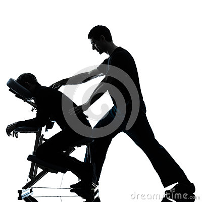 Free Back Massage Therapy With Chair Stock Image - 28226311