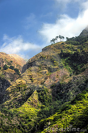 Back mountains of Madeira island