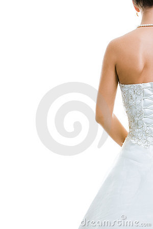 Free Back Of Bride Stock Photography - 4556852