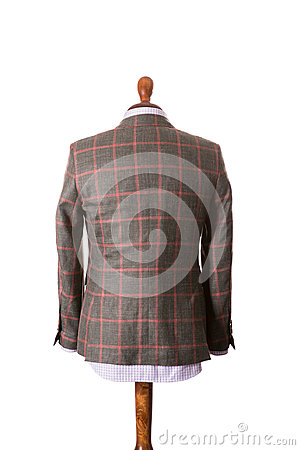 Free Back Of Male Suit On The Dummy Royalty Free Stock Photography - 96868147