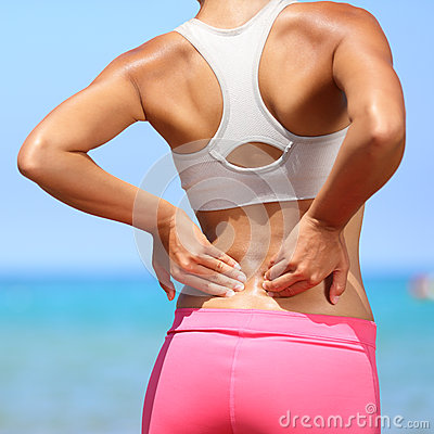 Free Back Pain - Woman Having Injury In Lower Back Royalty Free Stock Images - 32730139