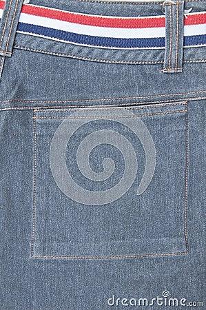 Back pocket of jeans