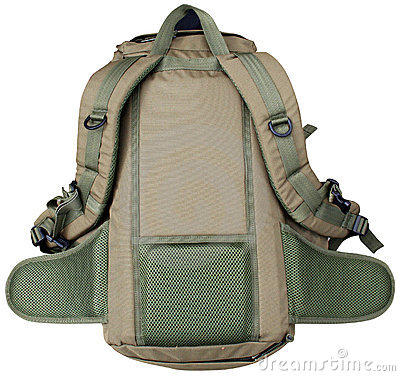 Back of rucksack