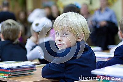 Back in school - boy in classroom