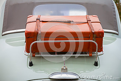 Back side luggage on classic car