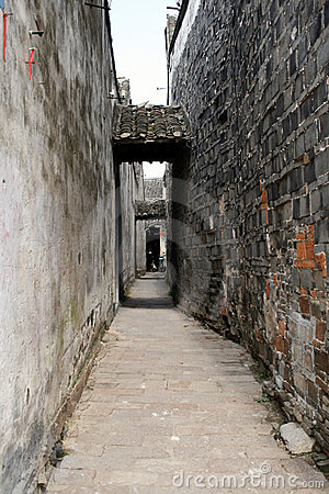 Back street in China