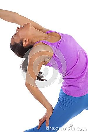 Back stretch yoga blue