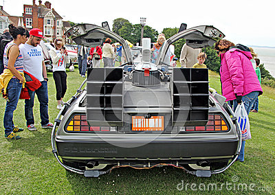 Back to the future delorean car Editorial Stock Photo