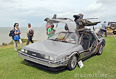 Back to the future delorean car Editorial Photo