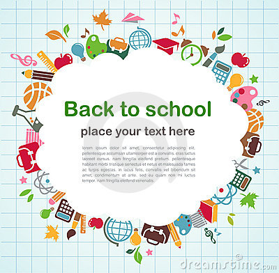 Back to school - background with education icons