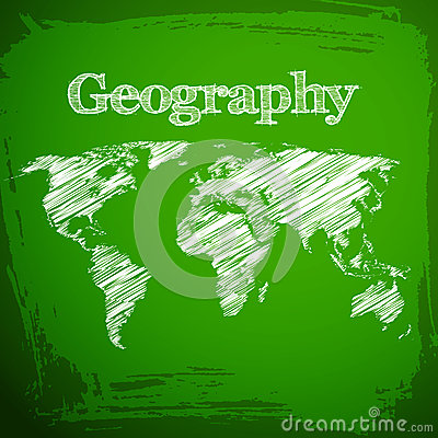 Back to school background. Geography