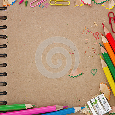 Free Back To School Background With Brown Notebook Royalty Free Stock Photo - 33998485