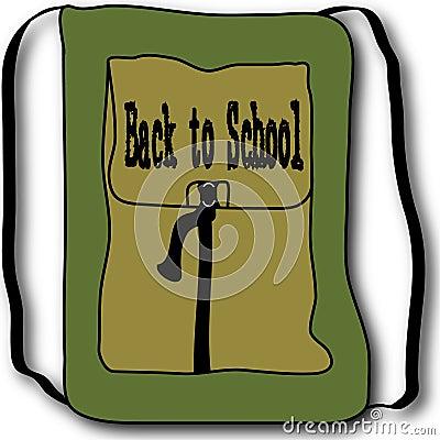 Back to School Backpack Illustration
