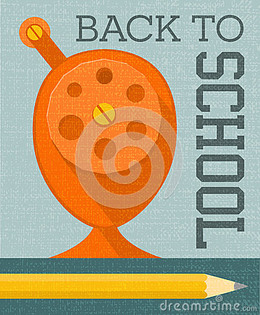 Free Back To School Banner Poster Design With Vintage Pencil Sharpener Royalty Free Stock Photos - 97073668