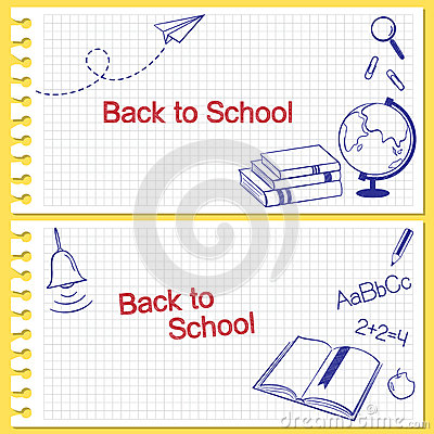 Free Back To School Banners Royalty Free Stock Photo - 41807095