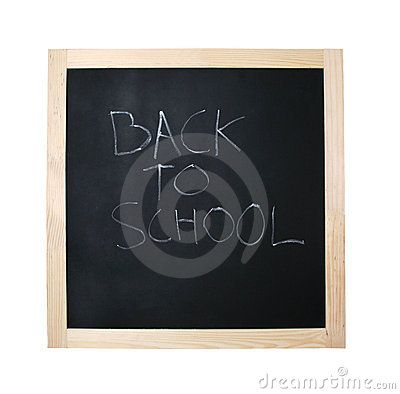 Back to school black board with path