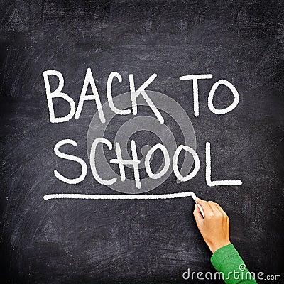 Back to school blackboard / chalkboard